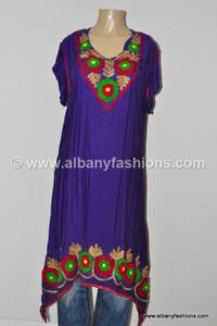 Purple-Designer long Kurtis-42