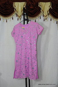 Pink Light chumki Churidar Suit