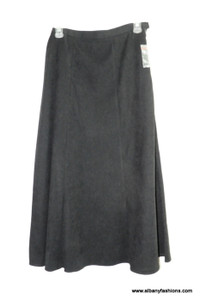 Black polyester long skirt size s