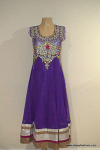 2000 Anarkali Churidar Suit - Purple