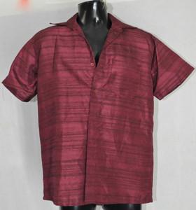 Half-sleeved Maroon Kurta