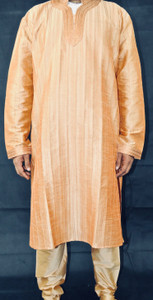 Orange Gold Kurta
