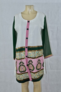 White and green Kurti