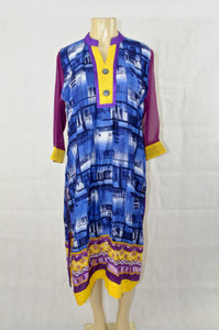 Purple and Blue Kurti