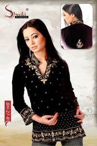 Black BH-27 B Indian Kurti Tunic Tops