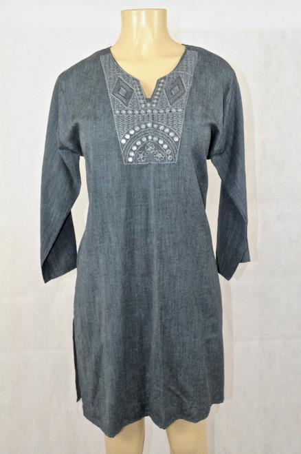 Dark gray kurti top