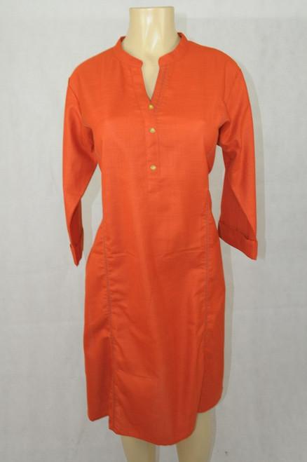 Plain orange kurti