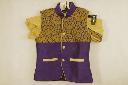 1008 Boys Purple Kurta and Dhoti Pant