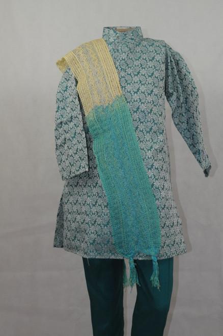 1022 Bluish-green kurta set