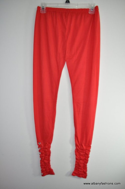 Indian Leggings- Red with Stone