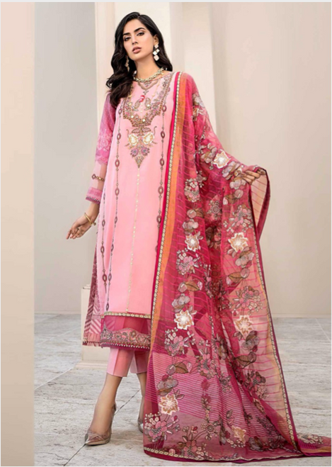 Pink and Red Designer Suit