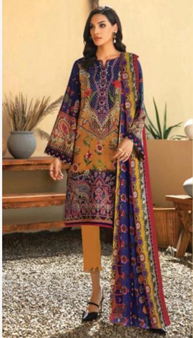 09 Multi-colored Suit - Latest Pakistani Party wear New York