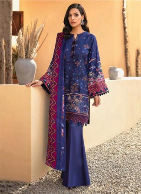 10 Violet Suit - Latest Pakistani Party Wear