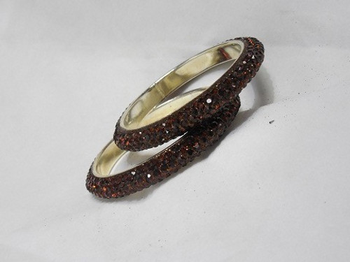Stone Bangles - Brown D70 (Double)