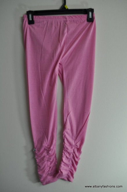 Indian Leggings - Pink with Stone for Girls