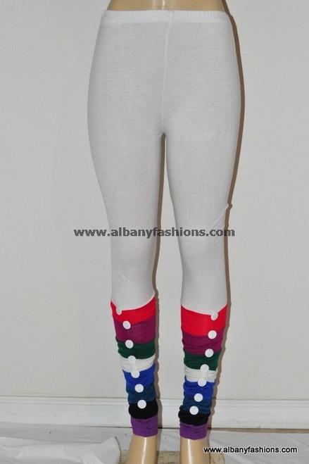 white button leggings