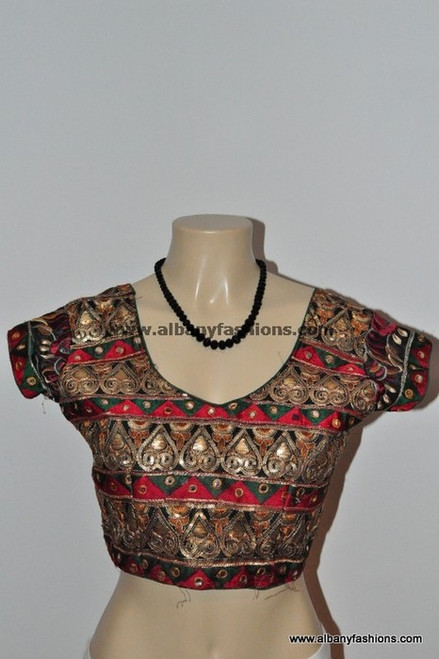 Red Multicolor Blouse
