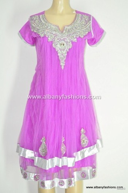 2013-Pink Churidar Salwar Kameez Size 40 Indian_Churidar_10187