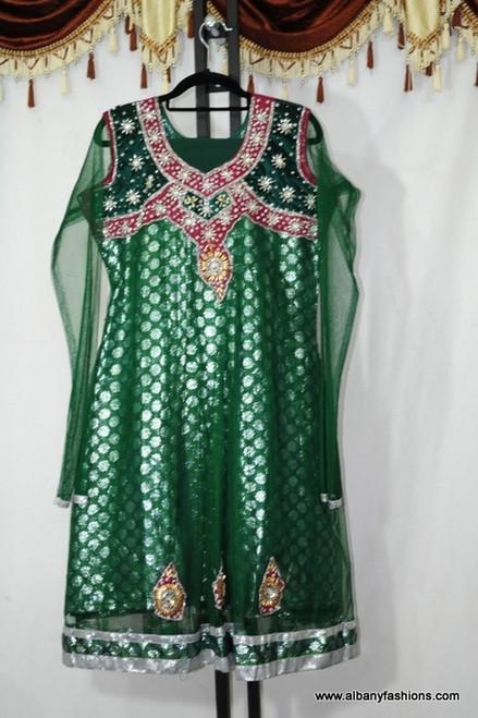 Green Designer Churidar Set
