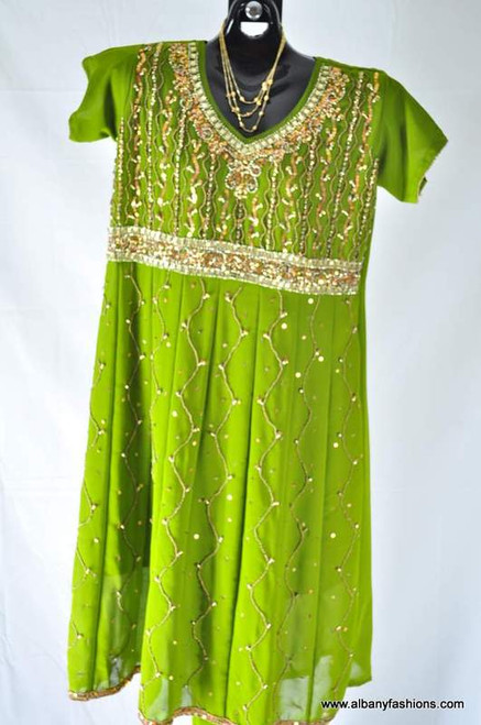 Green Anarkali Churidar Suit