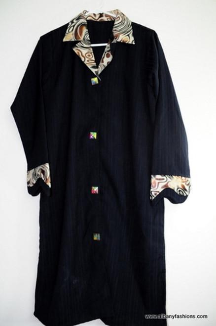 Short Dark Blue Stripes Abayas / Jilbabs / Hijabs / Indian Burka
