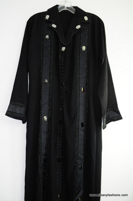 Black Stripes 2011 Abayas / Jilbabs / Hijabs / Indian Burka