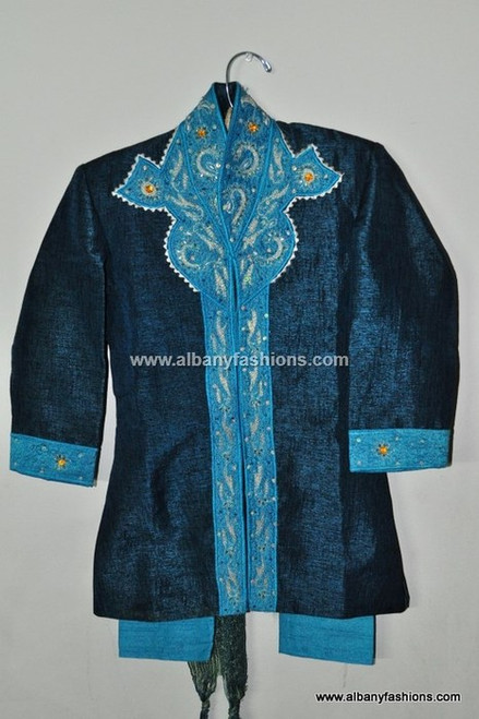 Blue Boys Kurta Payjama Set For 3-4 Yrs