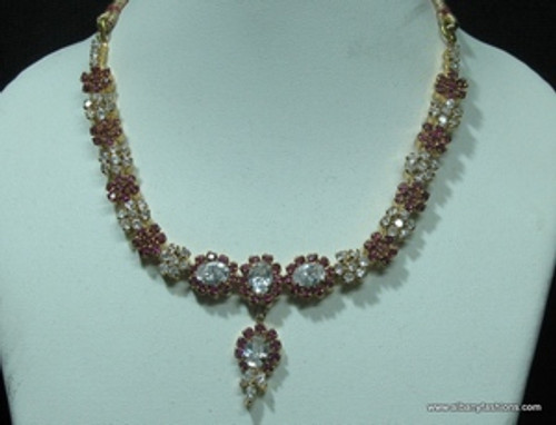 Indian Jewelry - Ruby Red Set