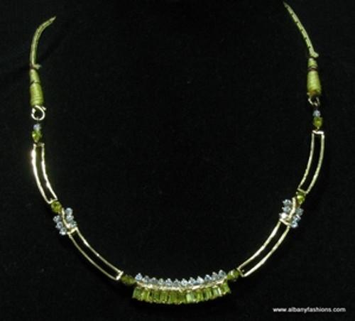 Indian Jewelry -Green Emerald Set