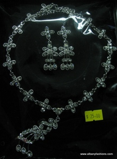 Indian Jewelry - American Diamond Set Indian_Jewelry_Set_1007