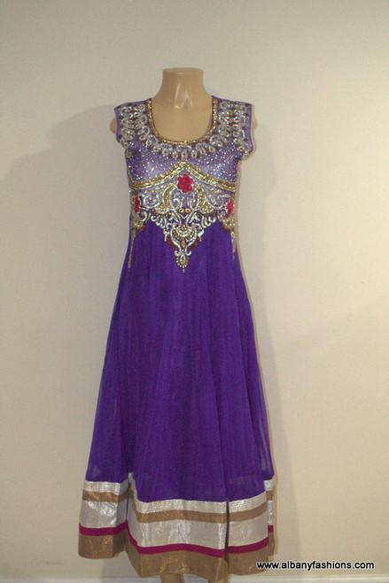 2000 Anarkali Churidar Suit - Purple