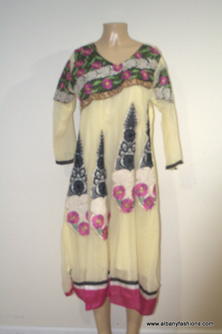 2000 Anarkali Churidar Suit-Yellow