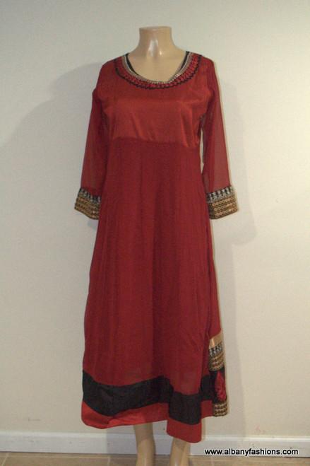 2000 Anarkali Churidar Suit-Red