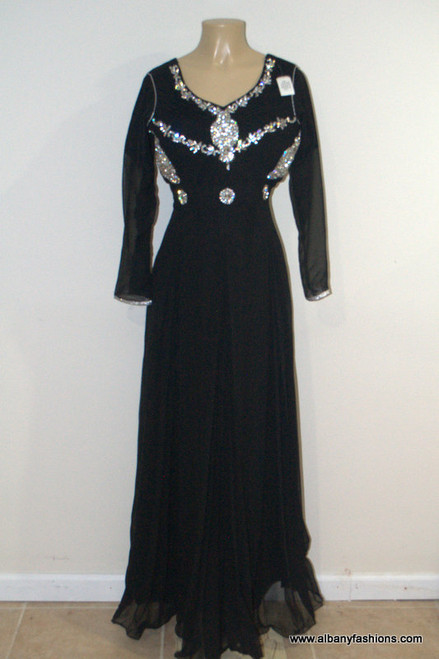 2000 Prom Black Long Dress