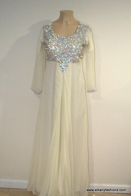 2858-Anarkali Churidar Suit-Cream