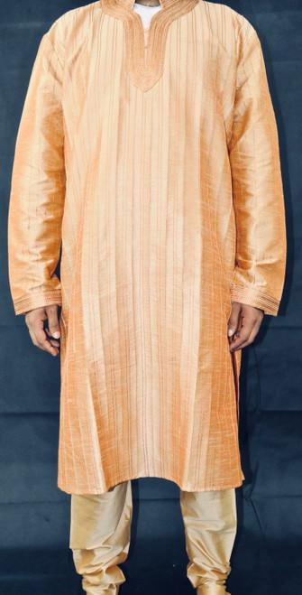 Orange Gold Kurta