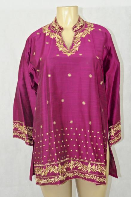 Purple with cream details Kurti top