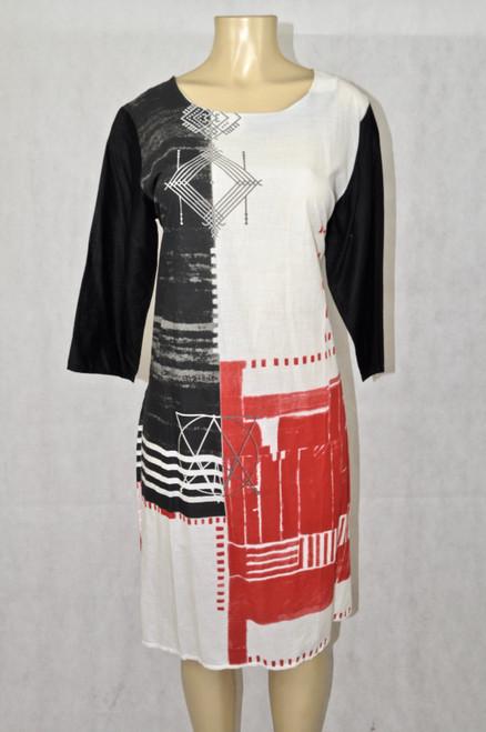 White black & red kurti