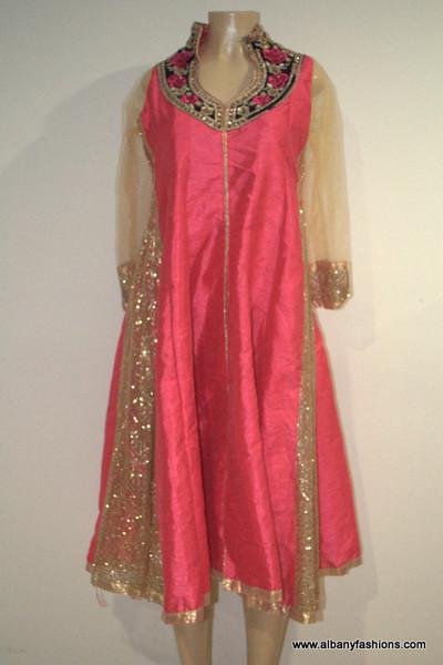 2000 Anarkali Churidar Suit-PinkSilver