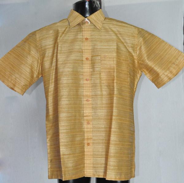 Half-sleeved Orange Kurta