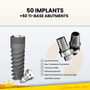 50 Implants + 50 Ti-bases - cad/cam abutments