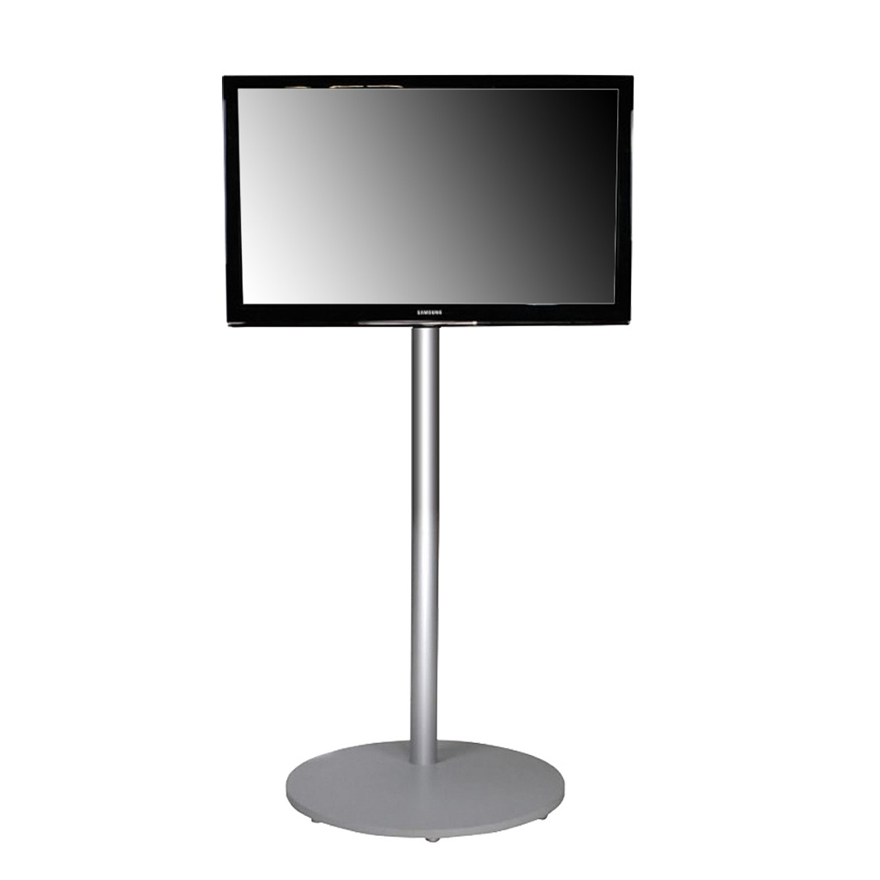 Portable 28 70 Monitor Stand 70 H Silver Best Tradeshow Display