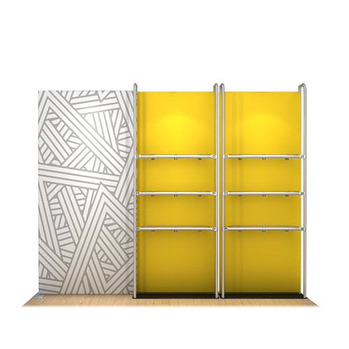 WaveLine® Merchandiser Retail Pop Up Store Display with Shelving