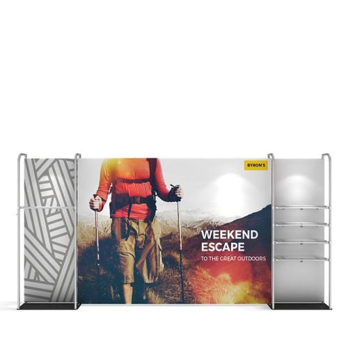 WaveLine® Merchandiser Retail Pop Up Store Display with Shelving