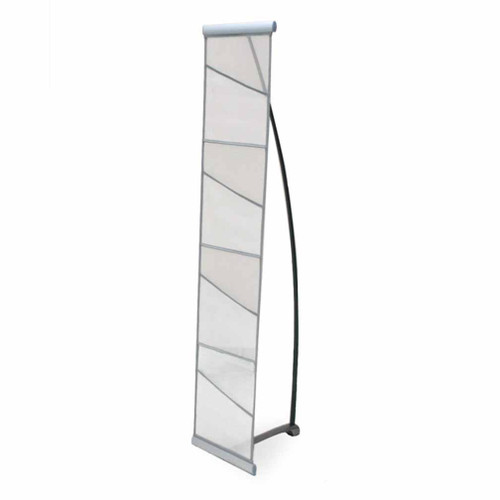 Silver Fabric Literature Rack