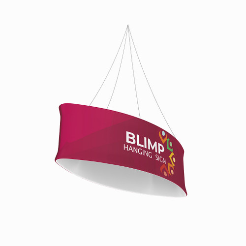 Blimp Ellipse 10ftWx36H Fabric Graphic Print, Single-Sided