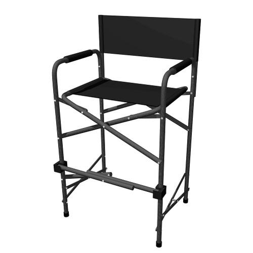 Tall Directors Chair - Black
