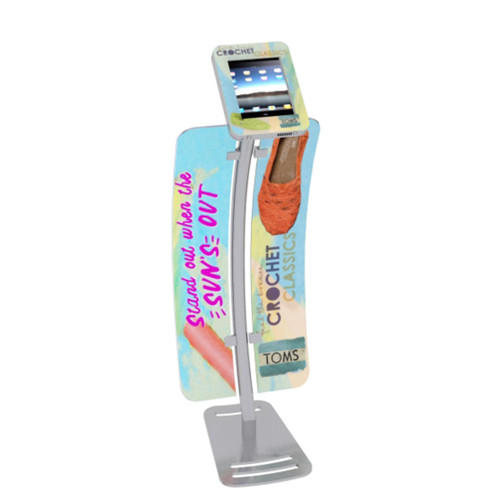 Portable iPad Kiosk Curved w/ Graphics Shown (MOD-1336 w/ Graphics Shown)