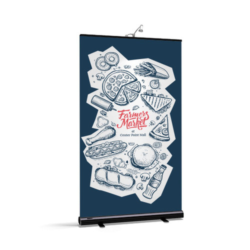 Rollup 2 Retractable Banner Stand Black