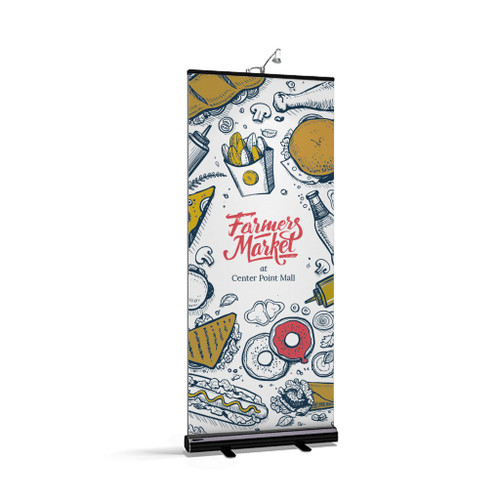 Rollup 2 Retractable Banner Stand Silver